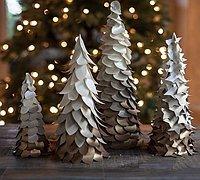 华丽的渐变色哑金卡纸圣诞树手工制作图解