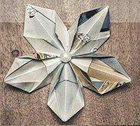 有趣的五角星花折纸diy制作教程