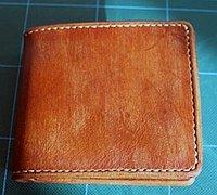 极简风男士短款钱包皮革制作教程