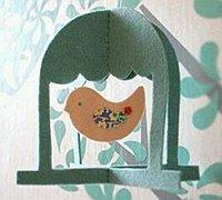 不织布制作的一款很有趣的小鸟鸟笼挂件