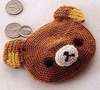 钩针编织零钱包 小熊零钱包毛线编织图纸