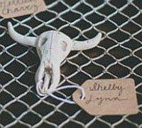 软陶制作精美的山羊头骨小挂件饰品