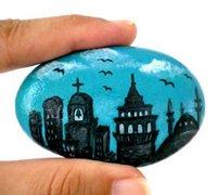 超唯美的鹅卵石彩绘手工作品