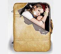充满恶趣的行李箱贴纸效果图创意设计