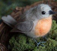 可爱逼真的知更鸟羊毛毡diy教程