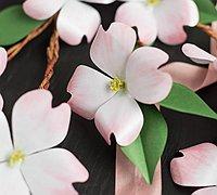 淡雅的山茱萸手工纸艺花制作图解