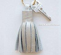 皮革DIY流苏钥匙扣 流苏穗子的做法