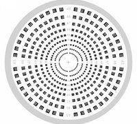 防作弊视力表 圆形分布的视力表创意设计
