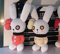 粉红兔女郎袜子娃娃 袜子diy可爱小兔子教程
