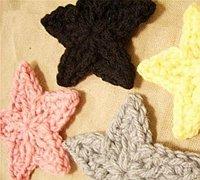 五角星钩针编织 毛线编织五角星图案