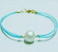 极简风格的珍珠编绳手链diy图解