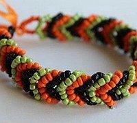 环环相扣的三重串珠手链编织方法图解
