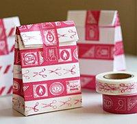 怎样折礼物纸袋 信封diy花色包装袋教程