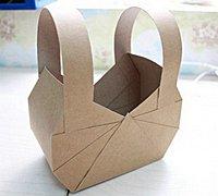 硬板纸做的猫咪纸篮子 可爱的猫咪收纳篮制作