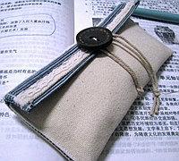 复古小清新布艺眼镜袋、布艺笔袋做法
