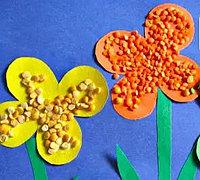 豆子花园 儿童手工豆子粘贴画教案