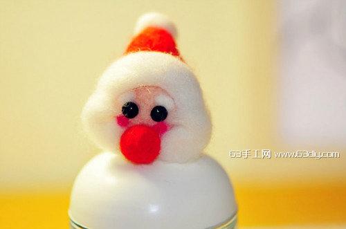 羊毛毡diy教程之圣诞老人简单手工制作