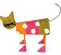硬纸板手工制作可爱的小猫咪diy图解