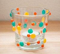 玻璃杯创意DIY 贴珠玻璃烛台制作教程