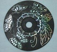 废旧光盘手工制作炫彩刮画手绘教程
