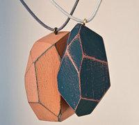 木制饰品diy手工 木制钻石项链吊坠教程
