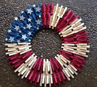 木夹子手工制作装饰品 木夹diy圆环状家居装饰品