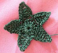 五角星钩针编织图解 手工钩针编织五角星