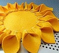 教你用不织布制作太阳花 不织布太阳花的做法