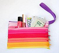 用拉链做包包 DIY彩虹拉链袋