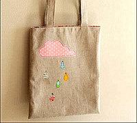 雨点贴布包包制作 diy手提包教程