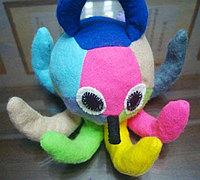 不织布小章鱼手工布艺玩偶制作