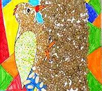 豆子粘贴小动物 用豆子制作拼贴画