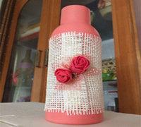 饮料瓶变废为宝制作田园风格花瓶