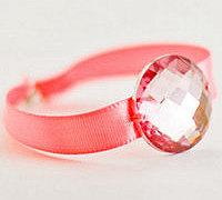 宝石与缎带的完美结合 DIY宝石缎带手镯