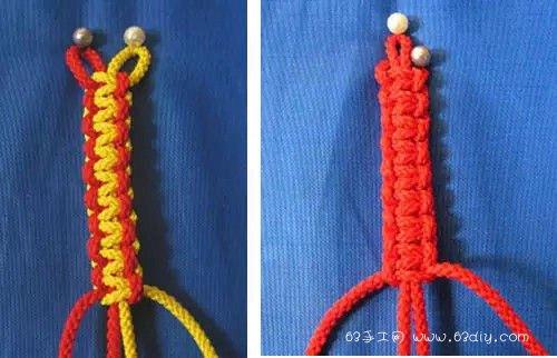 五股绳子的编法图解_9种四股绳的编法图解_63手工网