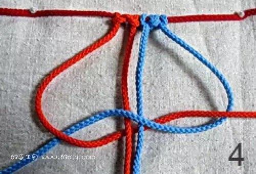 9种四股绳的编法图解_63手工网