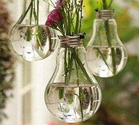 废旧灯泡制作花瓶 灯泡做的小清新花瓶