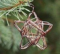 用铁丝缠绕五角星挂饰的方法