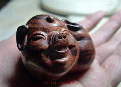 可爱的小猪手工木雕教程