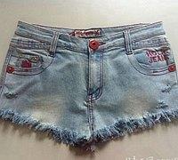 不穿的旧牛仔裤改造时尚牛仔小热裤