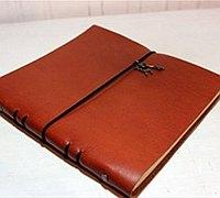 如何自制日记本 手工牛皮日记本制作教程