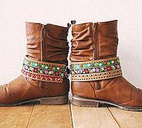 旧皮靴翻新变身民族风时尚马丁靴