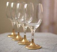 土豪金高脚杯 将杯子彩绘上奢华的金色