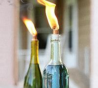 DIY香茅油驱蚊玻璃瓶燃油灯及燃料配方