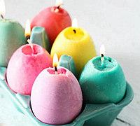 DIY彩色蛋形蜡烛