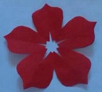 简单漂亮的五瓣花剪纸步骤
