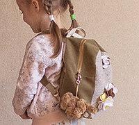 自制儿童布艺双肩包教程