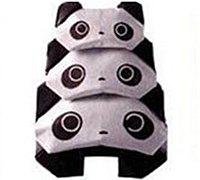 可爱熊猫头像手工折纸图解