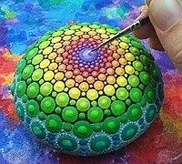 印度民族风情鹅卵石彩绘教程