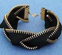 旧拉链创意DIY 用拉链制作一条时尚手链